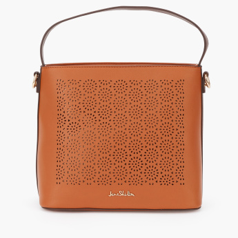 Jane Shilton Laser Cut Detail Hand Bag with Zip Closure