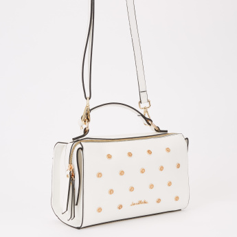 Jane Shilton Studded Handbag with Zip Closure