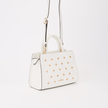 Jane Shilton Studded Handbag with Zip Closure and Adjustable Strap