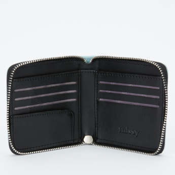 Missy Printed Bi-Fold Wallet with Zip Closure and Tassel