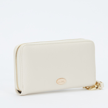 Missy Embellished Wallet with Zip Closure and Tassels