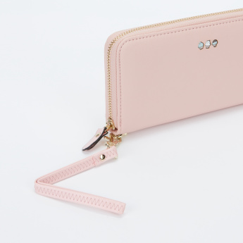 Missy Applique Detail Wallet with Zip Closure