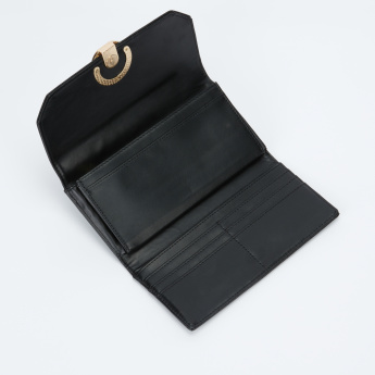 Paprika Tri-Fold Wallet with Metallic Detail