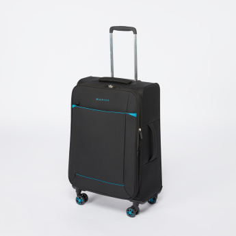 Duchini Textured Soft Case Trolley Bag with Zip Closure
