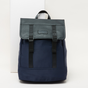 Lee Cooper Textured Backpack with Drawstring and Adjustable Straps