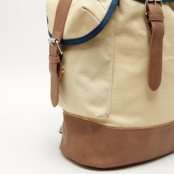 Lee Cooper Backpack with Flap and Magnetic Snap Closure