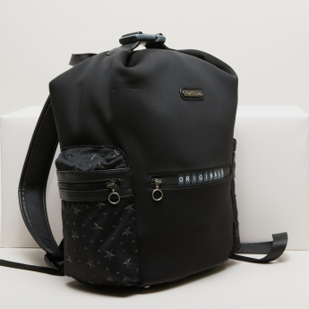 Lee Cooper Applique Detail Backpack with Zip Closure