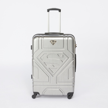 Superman Textured Hard Case Trolley Bag with Combination Lock