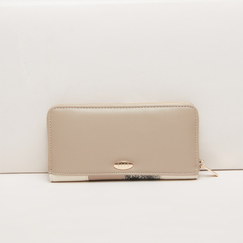 Elle Patch Work Detail Wallet with Zip Closure