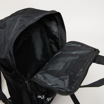 KangaROOS Textured Backpack with Zip Closure and Adjustable Straps