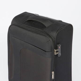 Duchini Textured Trolley Bag with Combination Lock