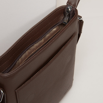 Duchini Messenger Bag with Zip Closure and Adjustable Shoulder Strap