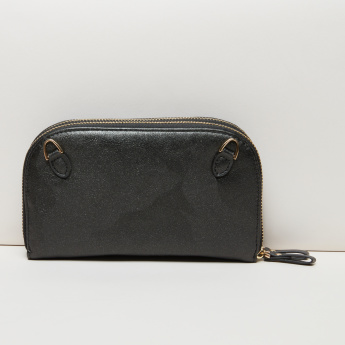 Paprika Wallet with Zip Closure and Detachable Shoulder Strap
