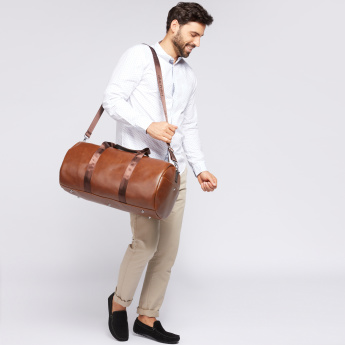 Duchini Duffel Bag with Zip Closure and Detachable Strap