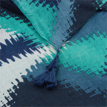 Celeste Printed Scarf with Tassels