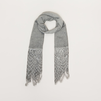 Celeste Scarf with Lace Detail
