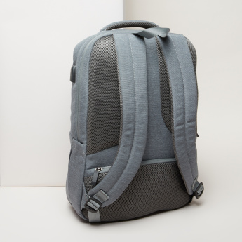 Textured Backpack with Adjustable Straps