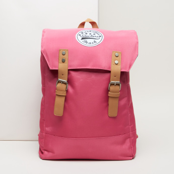 Skechers Applique Detail Backpack with Pin Buckle Closure