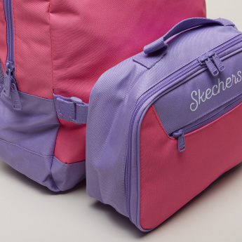 Skechers Textured Backpack with Zip Closure and Adjustable Straps