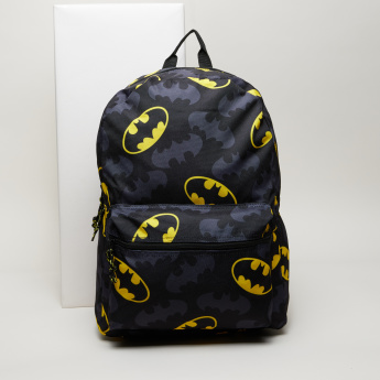 Batman Printed Backpack with Adjustable Straps