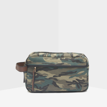 Lee Cooper Camouflage Printed Grooming Bag