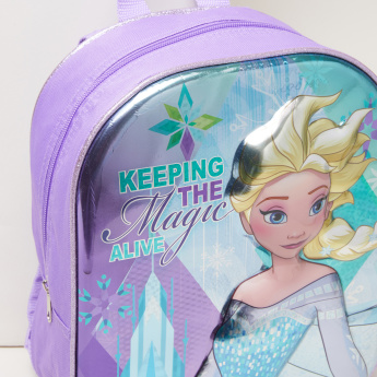 Frozen Printed Backpack with Zip Closure and Adjustable Straps
