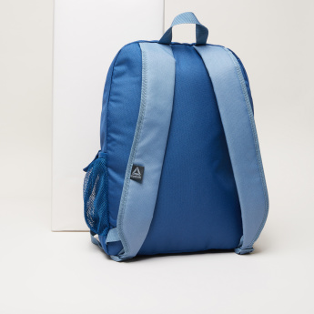 Reebok Printed Backpack with Zip Closure and Padded Shoulder Straps