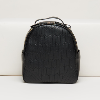 Missy Textured Backpack with Adjustable Straps