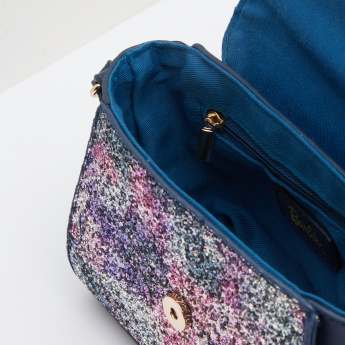 Barbie Printed and Glitter Satchel Bag