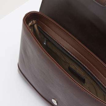 Duchini Buckle Accent Portfolio Bag