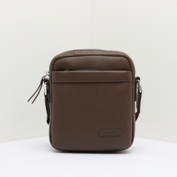 Duchini Textured Portfolio Bag with Zip Pocket