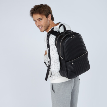 Lee Cooper Quilted Backpack with Zip Closure