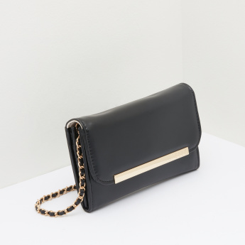 ELLE Metallic Detail Sling Bag