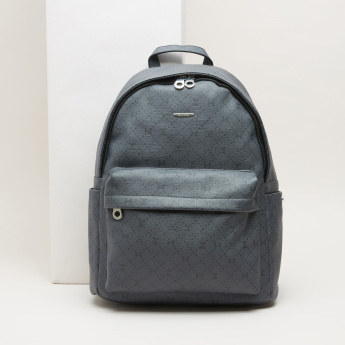 Carpisa Textured Backpack with Zip Closure  3db095d876c3f