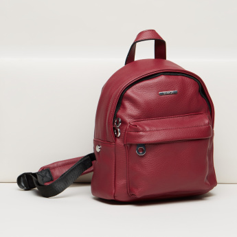 Carpisa Textured Backpack with Adjustable Backstraps