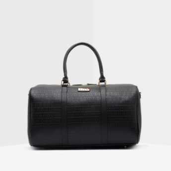 ELLE Textured Duffel Bag with Detachable Strap