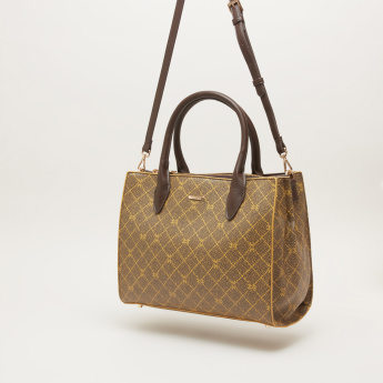 Carpisa Chequered Handbag with Detachable Strap