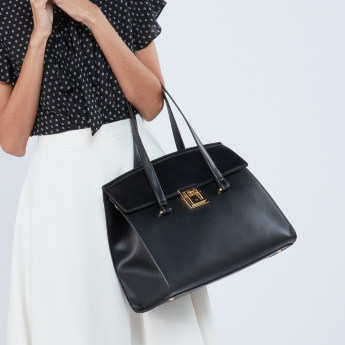 Celeste Handbag with Metallic Closure