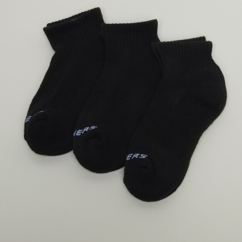 Skechers Textured Ankle Length Socks - Set of 3