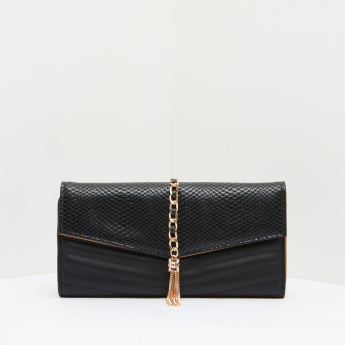 Celeste Quilted Tri-Fold Wallet with Tassel