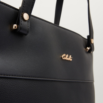 Celeste Tote Bag with Logo Detail