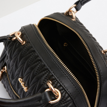 Celeste Quilted Handbag with Metallic Detail