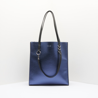 ELLE Textured Tote Bag with Zip Closure