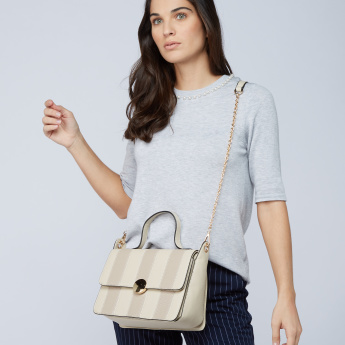 Textured Satchel Bag
