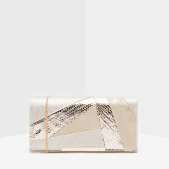 Celeste Clutch with Metallic Chain