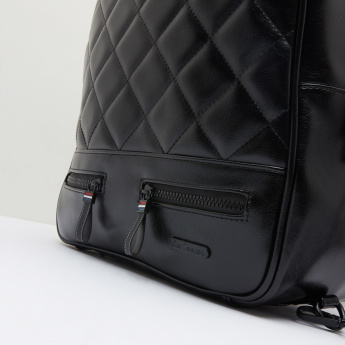 Lee Cooper Applique Detail Backpack with Detachable Strap