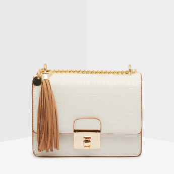 ELLE Satchel Bag with Tassel Detail
