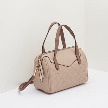 Celeste Textured Handbag with Detachable Strap