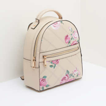 Celeste Floral Printed Backpack