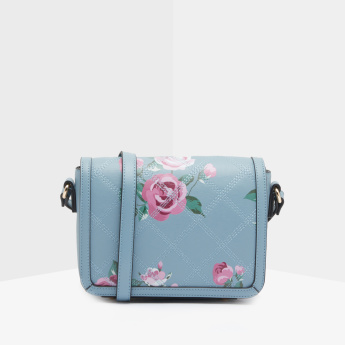 8b46f1a03635 Celeste Floral Printed Satchel Bag with Magnetic Snap Closure